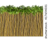 vector bamboo border with palm | Shutterstock .eps vector #417654031