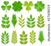 Leaves Icon Set 4  Flat Design