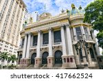 the municipal theatre  built in ... | Shutterstock . vector #417662524