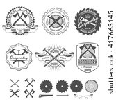 carpentry labels emblems and... | Shutterstock .eps vector #417663145