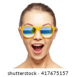 picture of happy screaming... | Shutterstock . vector #417675157