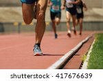 athletics people running on the ... | Shutterstock . vector #417676639