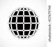 3d vector digital wireframe... | Shutterstock .eps vector #417679744