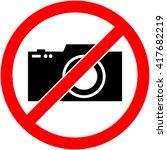 no photography  camera... | Shutterstock .eps vector #417682219
