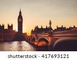 Big Ben   Sunset   Thames  ...