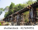 death railway line built with... | Shutterstock . vector #417694951