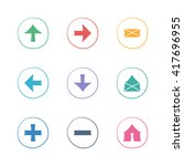 web colorful flat icons set....