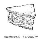 illustration of a sandwich. ... | Shutterstock .eps vector #417703279