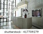 luxury lobby interior.   Shutterstock . vector #417709279