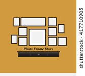 the photo frame ideas design on ... | Shutterstock .eps vector #417710905