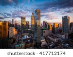 view of modern buildings at... | Shutterstock . vector #417712174