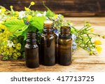alternative herbal medicine... | Shutterstock . vector #417713725