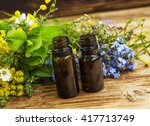 alternative herbal medicine... | Shutterstock . vector #417713749