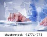 man surfing the internet    Shutterstock . vector #417714775
