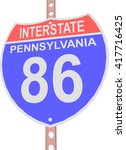 interstate highway 86 road sign ... | Shutterstock .eps vector #417716425