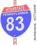 interstate highway 83 road sign ... | Shutterstock .eps vector #417716449