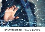social interaction concept | Shutterstock . vector #417716491