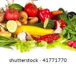 shot of group of vegetables in... | Shutterstock . vector #41771770