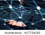 social interaction concept | Shutterstock . vector #417726181