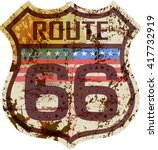 Vintage Route Sixty Six Sign ...