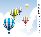 hot air balloon in the sky | Shutterstock .eps vector #417739891