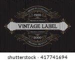 vintage typographic label... | Shutterstock .eps vector #417741694
