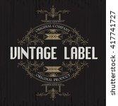 vintage typographic label... | Shutterstock .eps vector #417741727