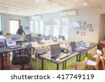 blurred picture of home office  ... | Shutterstock . vector #417749119