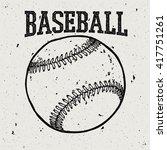 baseball retro style logo | Shutterstock .eps vector #417751261
