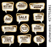 luxury sale stickers collection.... | Shutterstock .eps vector #417751861