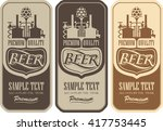 beer labels with the brewery... | Shutterstock .eps vector #417753445