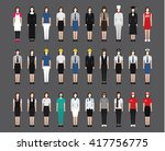 a set of professions people.... | Shutterstock .eps vector #417756775