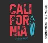 california beach typography... | Shutterstock .eps vector #417758281
