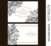 romantic invitation. wedding ... | Shutterstock . vector #417762175