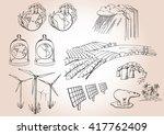 ecological set | Shutterstock .eps vector #417762409