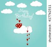 cute romantic vector... | Shutterstock .eps vector #417762511