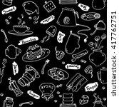 tea party kitchen tools... | Shutterstock .eps vector #417762751