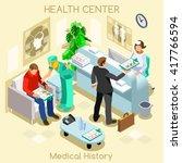 informed consent medical clinic ... | Shutterstock .eps vector #417766594