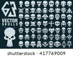 a collection of 63 vector... | Shutterstock .eps vector #417769009
