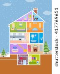 vector illustration of house in ... | Shutterstock .eps vector #417769651