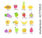 vector set of hand drawn fruit... | Shutterstock .eps vector #417770515