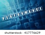 performance   text in blue... | Shutterstock . vector #417776629