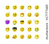 set of yellow emoticons on... | Shutterstock .eps vector #417777685