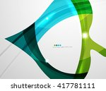 leaf shape wave abstract... | Shutterstock .eps vector #417781111