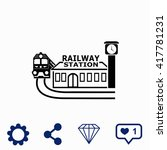 Railway Station Icon.