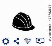 helmet icon. | Shutterstock .eps vector #417782839