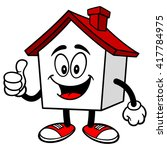 house with thumbs up | Shutterstock .eps vector #417784975