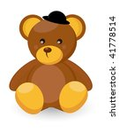 vector bear toy isolated on... | Shutterstock .eps vector #41778514