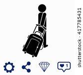 tourist icon. | Shutterstock .eps vector #417785431