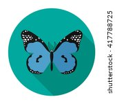 butterfly icon flat vector... | Shutterstock .eps vector #417788725